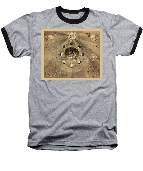 Celestial Map 1710b Baseball T-Shirt by Andrew Fare