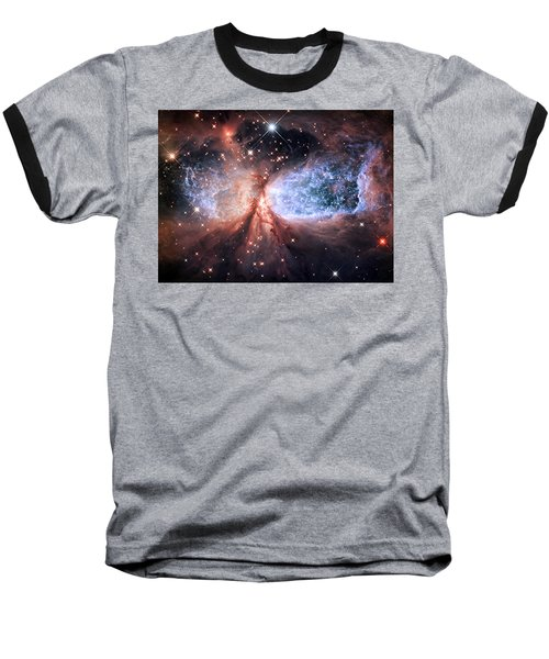 Baseball T-Shirt featuring the photograph Celestial Snow Angel - Enhanced - Sharpless 2-106 by Adam Romanowicz