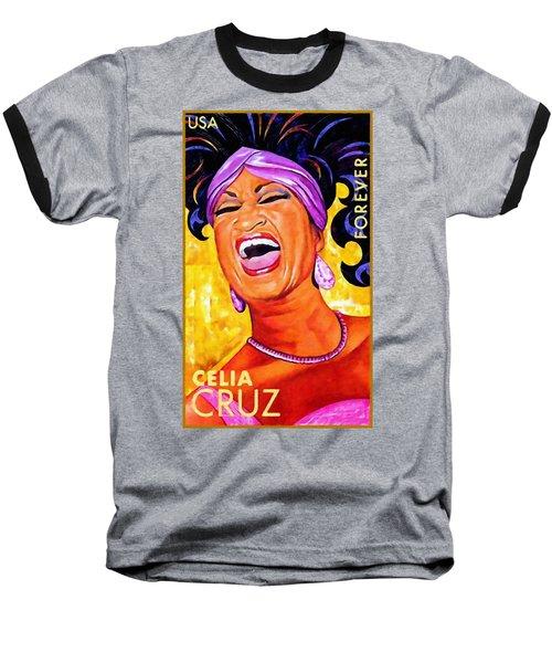 Celia Cruz Baseball T-Shirt by Lanjee Chee