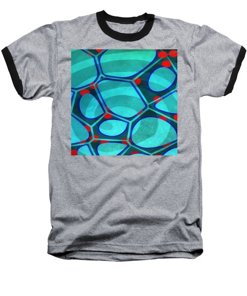 Cell Abstract 6a Baseball T-Shirt by Edward Fielding