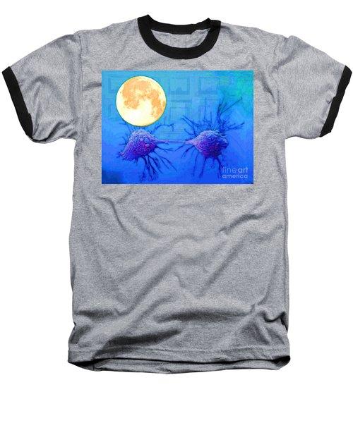 Cell Division Under Full Moon Baseball T-Shirt