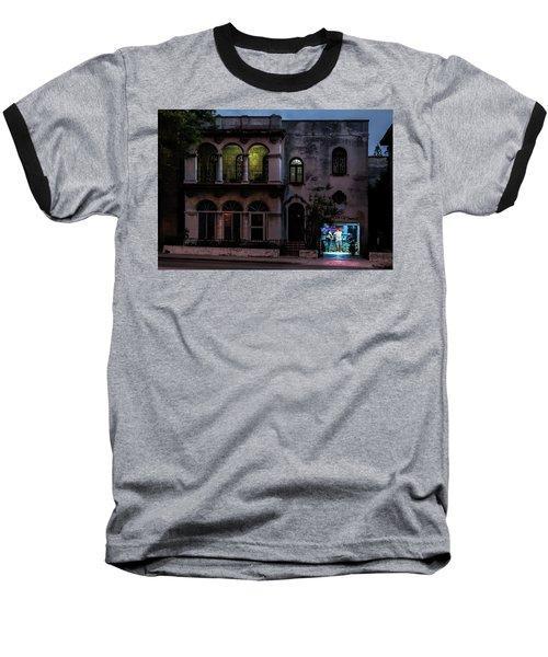 Baseball T-Shirt featuring the photograph Cell Phone Shop Havana Cuba by Charles Harden