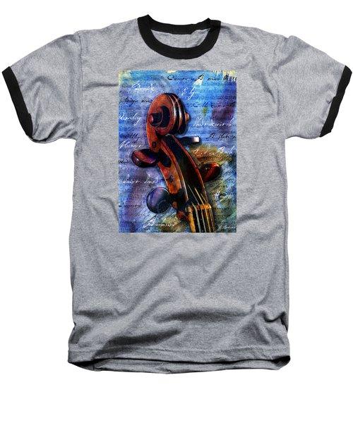 Cello Masters Baseball T-Shirt by Gary Bodnar