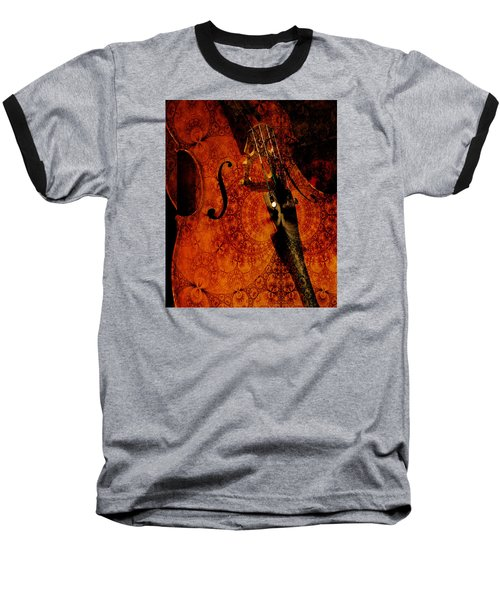 Cellos At Midnight Baseball T-Shirt by Michele Cornelius