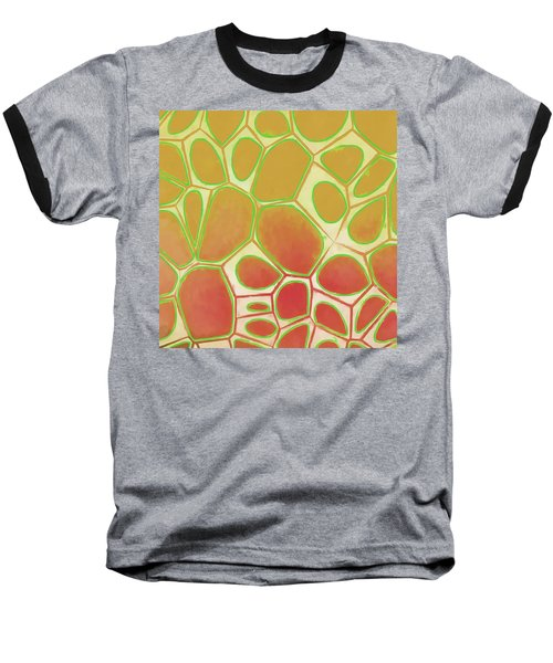 Cells Abstract Five Baseball T-Shirt by Edward Fielding