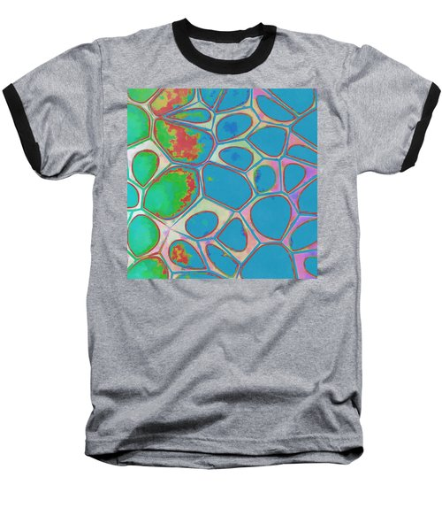 Cells Abstract Three Baseball T-Shirt