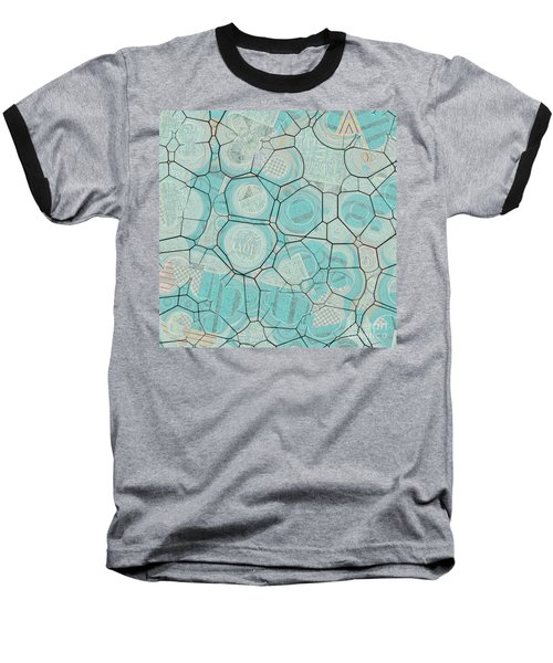 Baseball T-Shirt featuring the digital art Cellules - 04c1 by Variance Collections