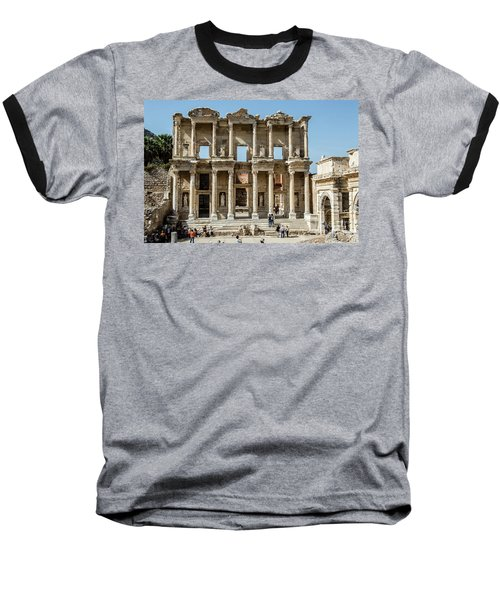 Celsus Library Baseball T-Shirt by Kathy McClure