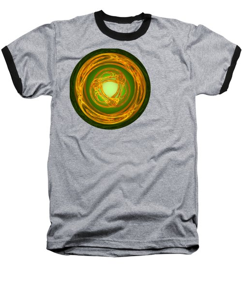 Baseball T-Shirt featuring the digital art Celtic Abstract On Green by Jane McIlroy