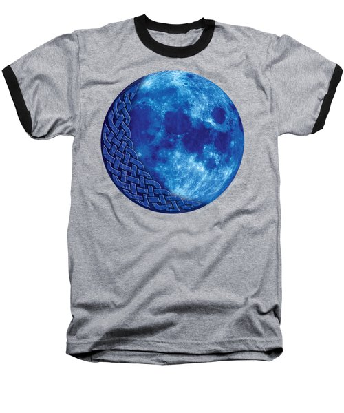Celtic Blue Moon Baseball T-Shirt by Kristen Fox