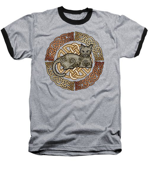 Celtic Cat Baseball T-Shirt