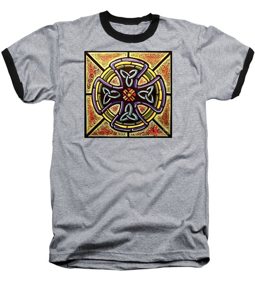 Baseball T-Shirt featuring the painting Celtic Cross 2 by Jim Harris