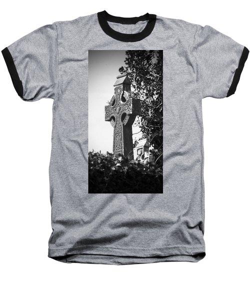 Celtic Cross At Fuerty Cemetery Roscommon Ireland Baseball T-Shirt