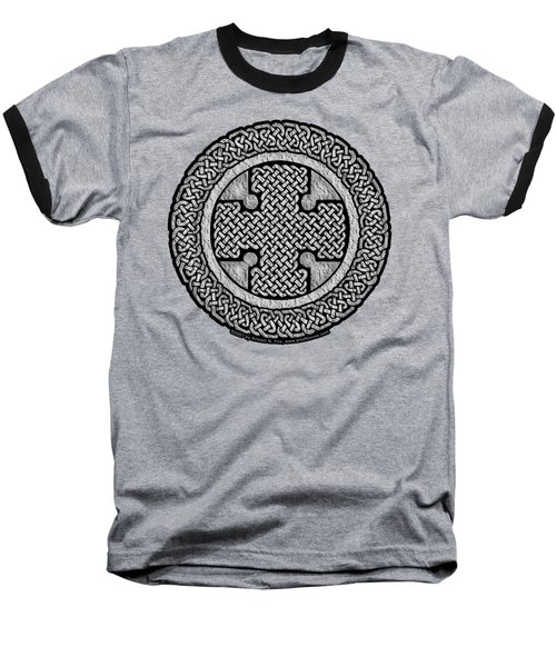 Celtic Cross Baseball T-Shirt by Kristen Fox