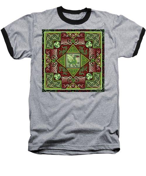 Celtic Dragon Labyrinth Baseball T-Shirt