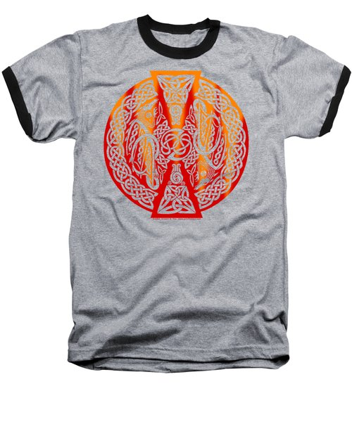 Celtic Dragons Fire Baseball T-Shirt