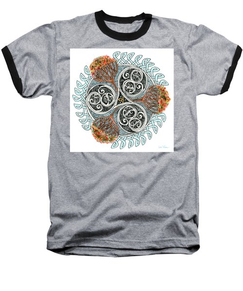 Celtic Knot With Autumn Trees Baseball T-Shirt