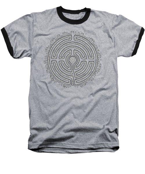 Celtic Labyrinth Mandala Baseball T-Shirt
