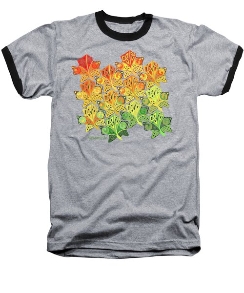 Celtic Leaf Transformation Baseball T-Shirt by Kristen Fox