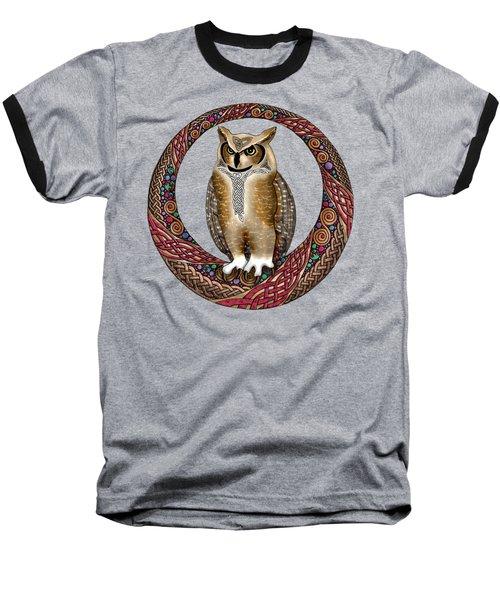 Celtic Owl Baseball T-Shirt
