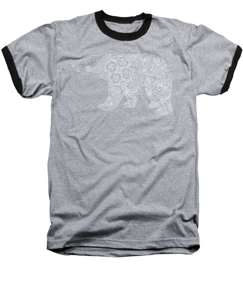 Celtic Polar Bear Baseball T-Shirt by Kristen Fox