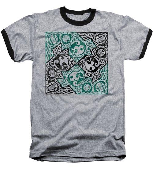 Celtic Puzzle Square Baseball T-Shirt
