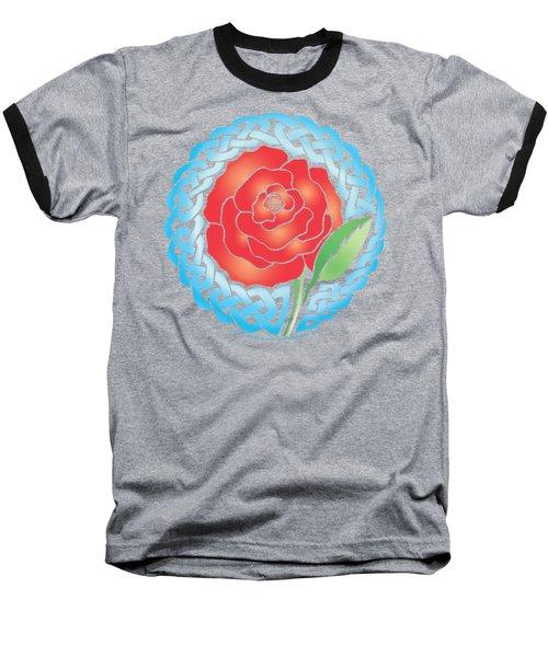 Celtic Rose Stained Glass Baseball T-Shirt