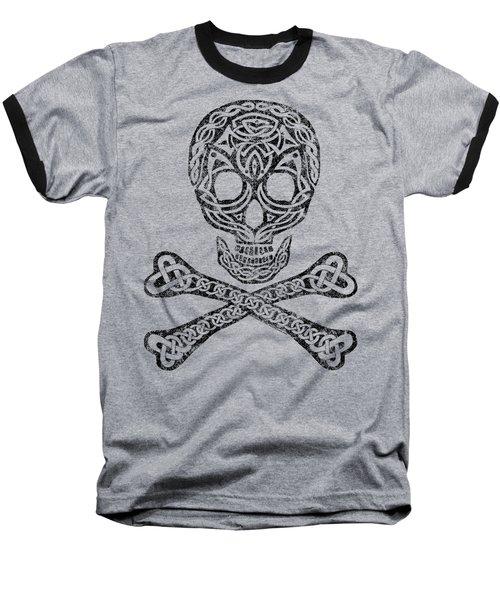 Celtic Skull And Crossbones Baseball T-Shirt