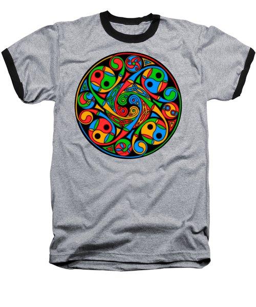 Celtic Stained Glass Spiral Baseball T-Shirt