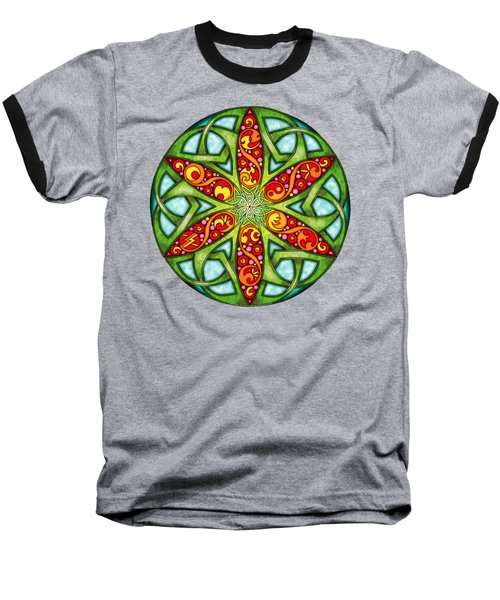 Celtic Summer Mandala Baseball T-Shirt