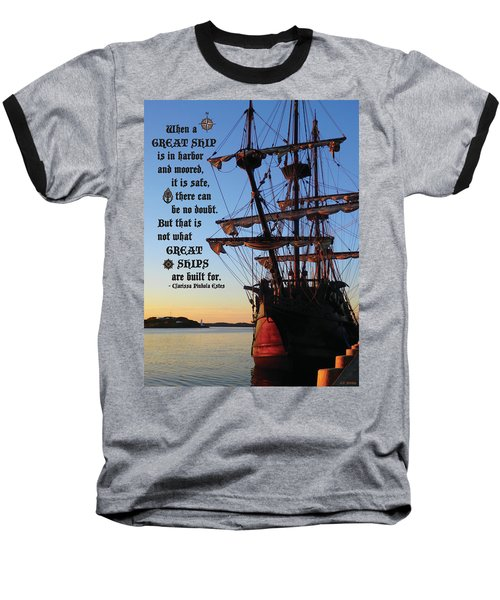 Celtic Tall Ship - El Galeon In Halifax Harbour At Sunrise Baseball T-Shirt