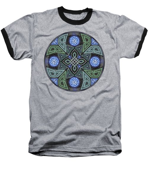 Celtic Ufo Mandala Baseball T-Shirt by Kristen Fox