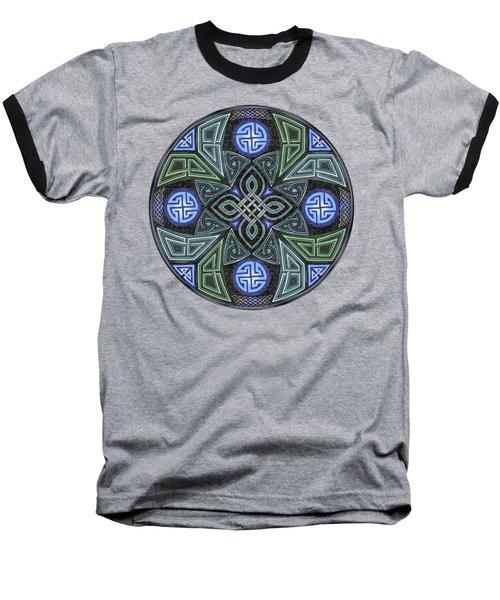 Celtic Ufo Mandala Baseball T-Shirt