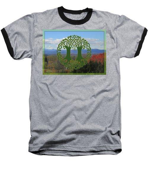 Celtic Wedding Tree In Green Baseball T-Shirt