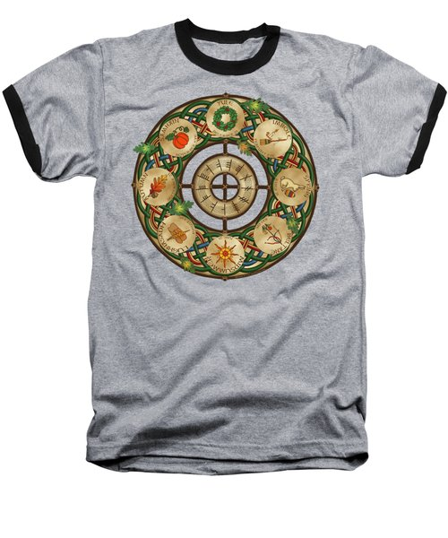 Celtic Wheel Of The Year Baseball T-Shirt