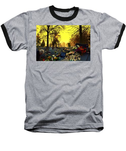 Cemetery In Feast Of The Dead Baseball T-Shirt