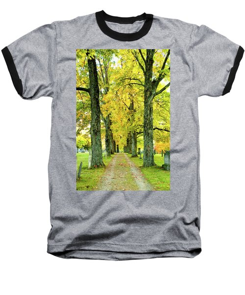 Baseball T-Shirt featuring the photograph Cemetery Lane by Greg Fortier