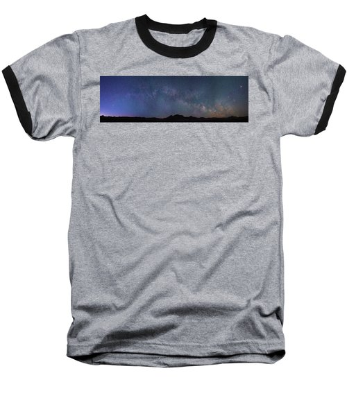 Center Of The Milky Way Over The Badlands Baseball T-Shirt