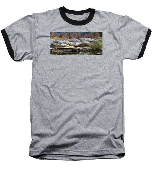 Centered In Humility Baseball T-Shirt by David Norman