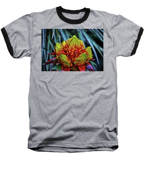 Baseball T-Shirt featuring the photograph Centerpiece - Bromeliad 005 by George Bostian