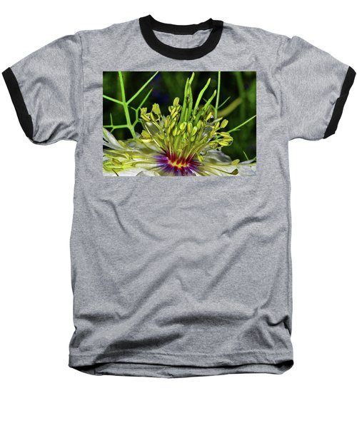 Centerpiece - Love In The Mist Macro Baseball T-Shirt by George Bostian
