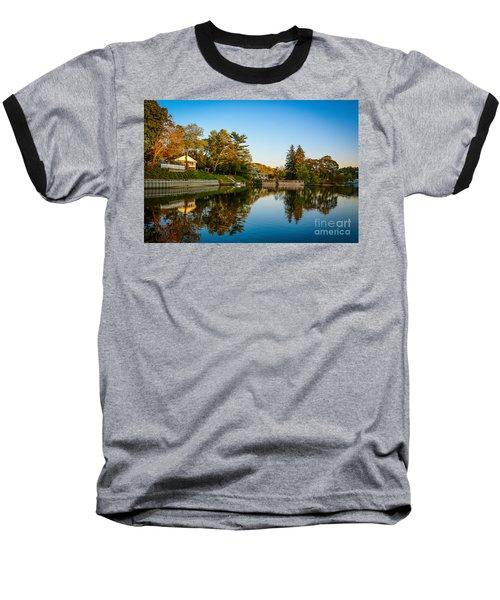 Centerport Harbor Autumn Colors Baseball T-Shirt