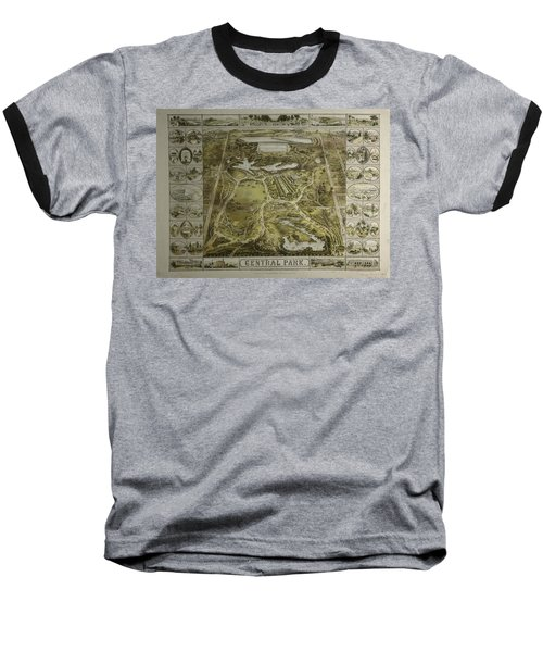 Central Park 1863 Baseball T-Shirt by Duncan Pearson