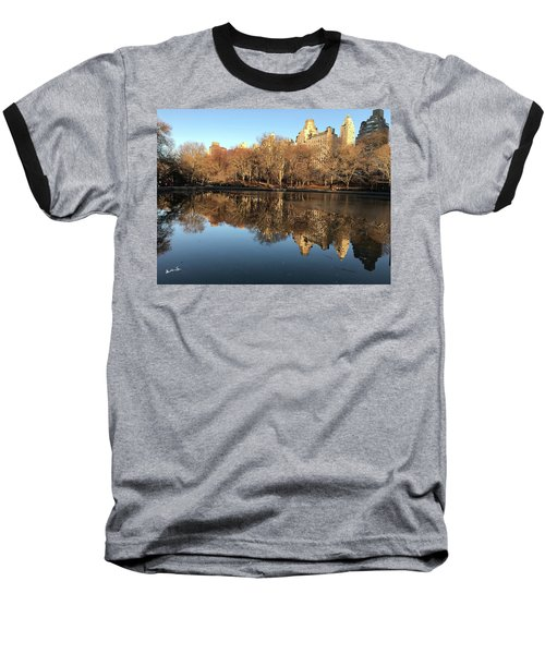 Baseball T-Shirt featuring the photograph Central Park City Reflections by Madeline Ellis