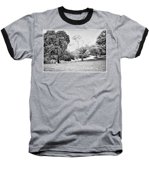 Baseball T-Shirt featuring the photograph Central Park In Black And White by Madeline Ellis
