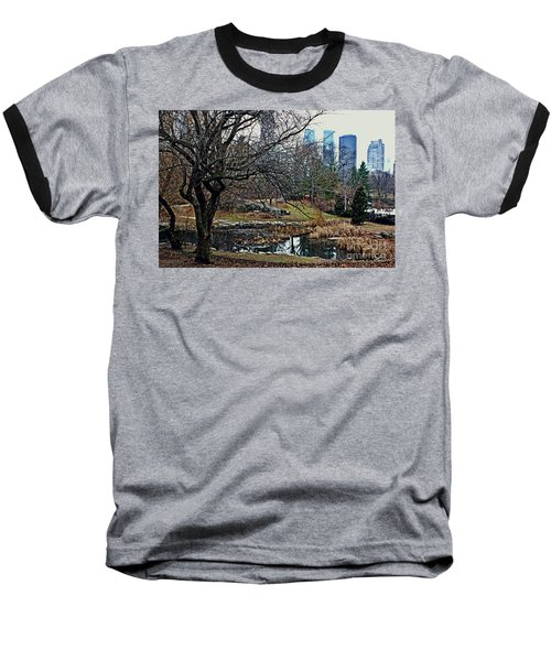 Baseball T-Shirt featuring the photograph Central Park In January by Sandy Moulder