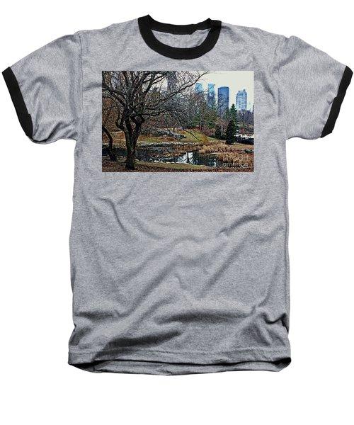 Central Park In January Baseball T-Shirt