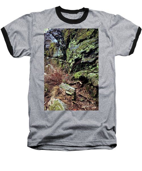 Baseball T-Shirt featuring the photograph Central Park Rock Formation by Sandy Moulder