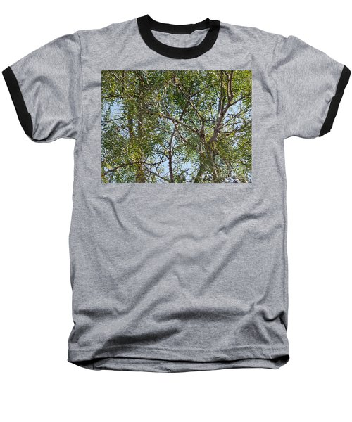 Baseball T-Shirt featuring the photograph Central Texas Sky View Through Mesquite Trees by Ray Shrewsberry