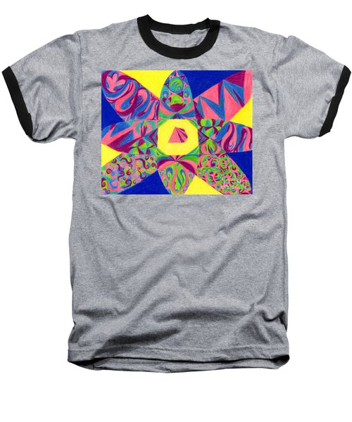 Baseball T-Shirt featuring the drawing Centrifugal by Kim Sy Ok